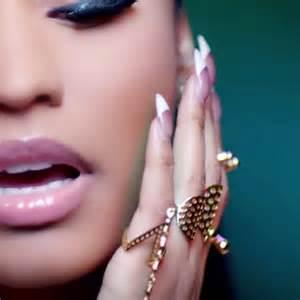 nicki minaj clear white french manicure nails steal her