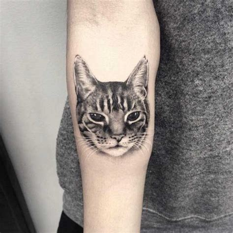 black and white cat tattoo best 25 cat portrait tattoos ideas on cat