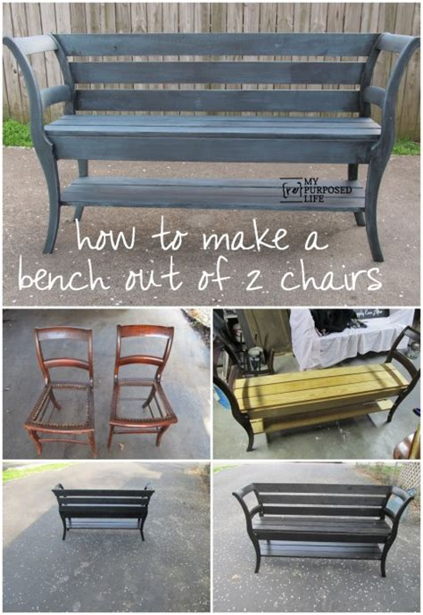 bench made out of chairs how to make a bench out of 2 old chairs iseeidoimake