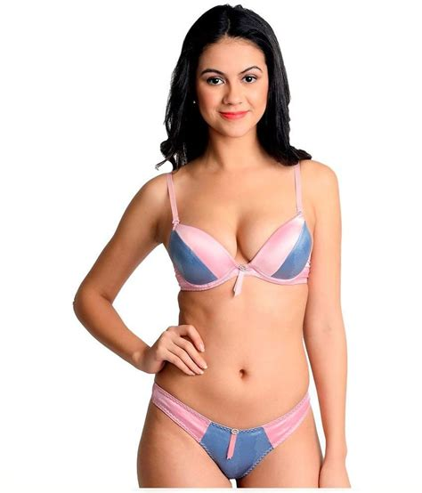 Zoya Set buy la zoya pink satin bra sets at best