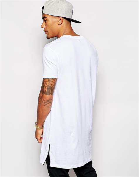 Asos Longline T Shirt asos longline t shirt with side zip detail and
