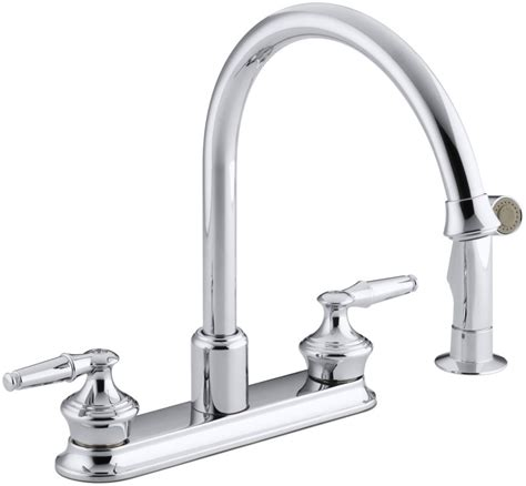 kohler gooseneck kitchen faucet faucet k 15889 k cp in polished chrome by kohler