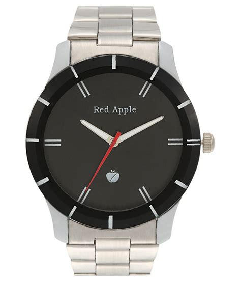 red apple silver wrist watch price in india buy red apple