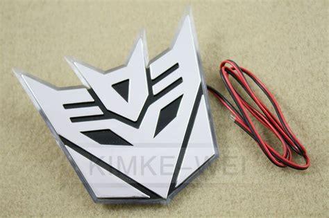 Emblem Decepticon Crom Plastik Dc01 led 3d auto aufkleber chrom emblem transformers autobot