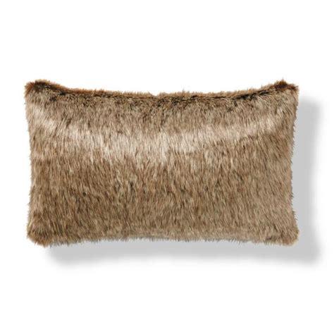 faux fur lumbar pillow luxury faux fur lumbar pillow frontgate