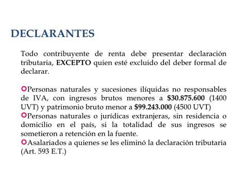 declarantes renta presentacion retefuente renta 2009