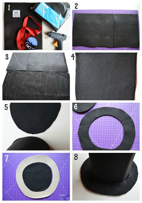 How To Make A Magic Hat Out Of Paper - diy magician s hat tutorial no sew andrea s notebook