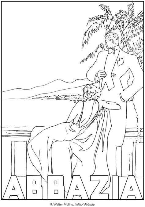 italy coloring pages italy travel posters coloring book