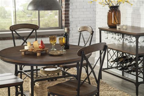 Virginia Furniture Market by Benchcraft Rolena 5 Bistro Style Metal Wood