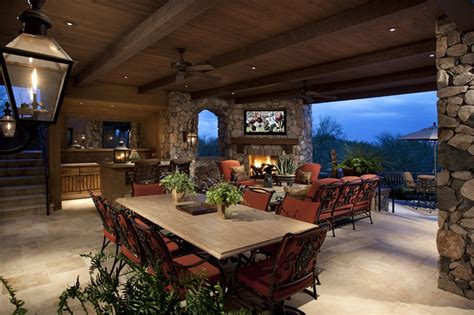 Outdoor Living Room by Outdoor Living Room Mediterranean Patio Other Metro By R J Gurley Construction