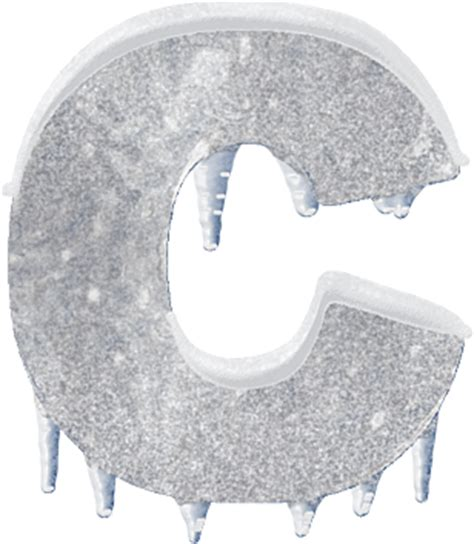 up letter to snow presentation alphabets and snow letter c