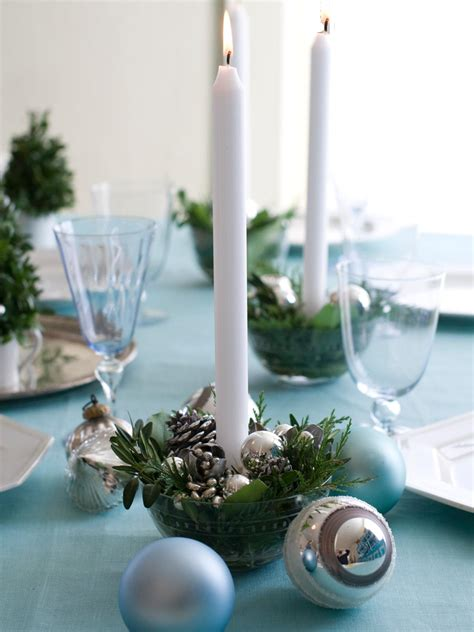 Christmas Candle Table Centerpieces - 12 chic easy holiday table ideas entertaining ideas amp party themes for every occasion hgtv