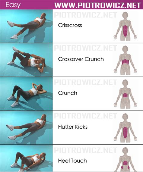 Top Abdominal Exercises For To Easy Abs Workout Sixpack Exercises Healthy