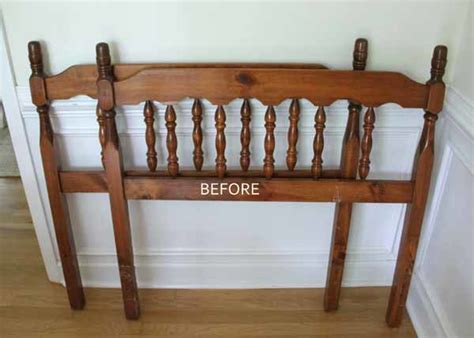diy bench from headboard diy headboard bench artsy chicks rule 174