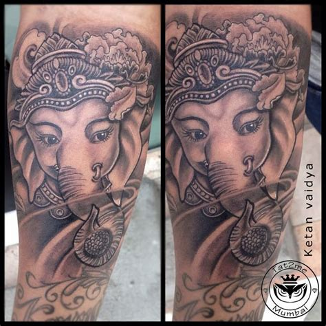 ganesha tattoo realistic best tattoo artist in mumbai best tattoo artist in