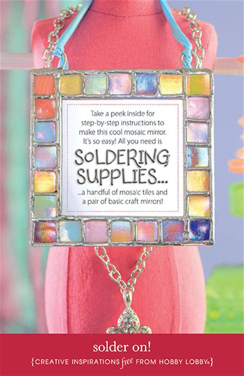hobby lobby craft projects hobbylobby projects solder on