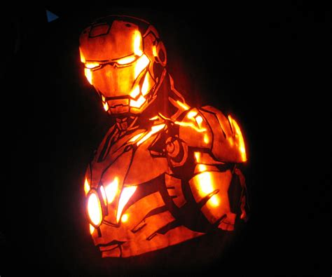 printable iron man pumpkin stencil how to carve iron man