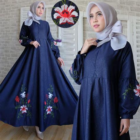 Baju Dress Bordir maxi dress baloteli bordir c039 gamis modern model terbaru