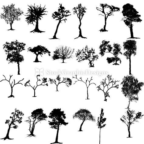 tree pattern brush tree vector brush pack vector photoshop brushes