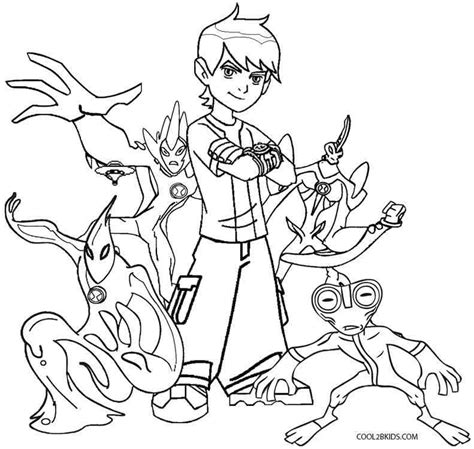 Printable Ben Ten Coloring Pages For Kids Cool2bkids Ben Ten Coloring Pages