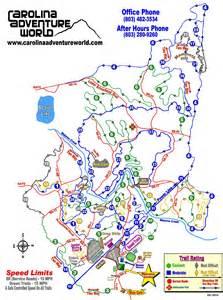 carolina adventure world trail map guide