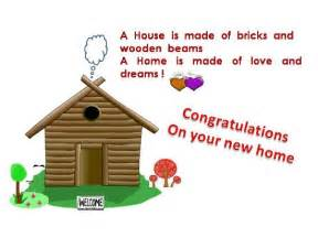 congratulatory message on a new home free new home ecards