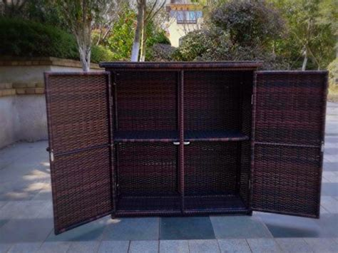 Rust Proof Letterbox Pebble Living Outdoor Rust Proof Wicker Storage Unit Deck Box Brown Deck Boxes Patio