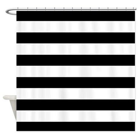 bold black and white striped curtains black and white bold stripes shower curtain by hhtrendyhome