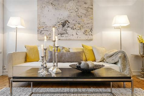 scandinavian homes interior inspiration grey and yellow as seen in