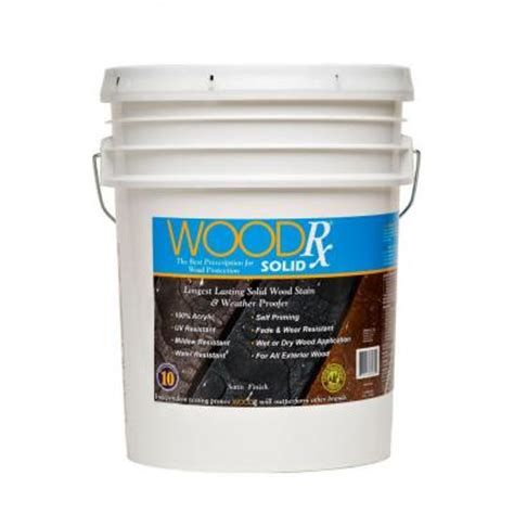woodrx 5 gal granite solid wood stain and sealer 600545