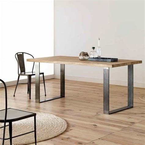 Pied De Table Moderne by Table Moderne Plateau Bois Ch 234 Ne Structure M 233 Tal Forg 233