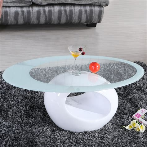 white oval coffee table glass oval coffee table contemporary modern design living
