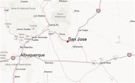 san jose sea level map san jose new mexico united states weather forecast