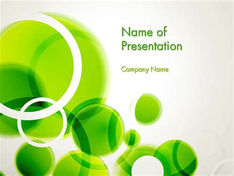Powerpoint Design Vorlage Schlicht Green Circles Abstract Presentation Template For Powerpoint And Keynote Ppt