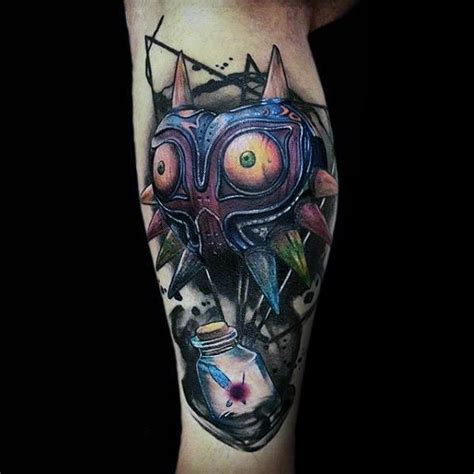 50 majora s mask tattoo designs for men the legend of