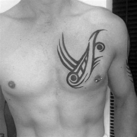 tattoo simple chest 50 simple chest tattoos for men manly upper body design ideas