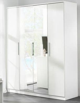 Large White Wardrobes by Large White High Gloss Bedroom Wardrobe 4 Door Homegenies
