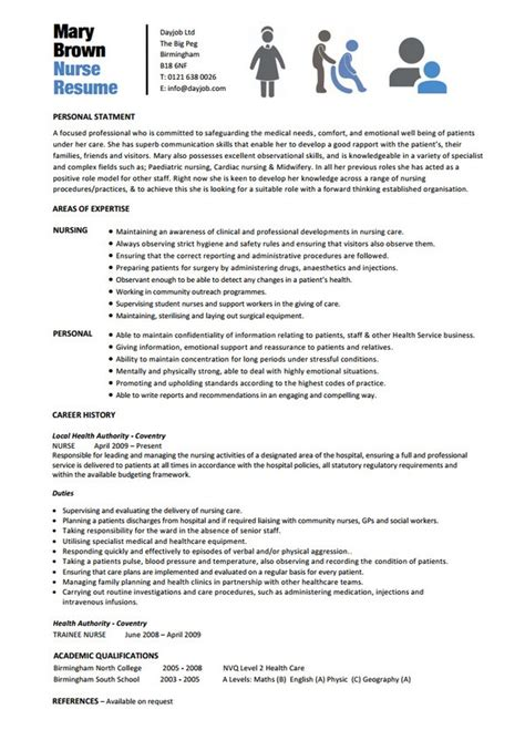 Resume Words For Nurses 10 Nursing Resume Template Free Word Pdf Sles