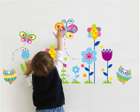 garden wall stickers butterfly flower garden wall sticker for nursery school