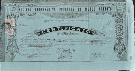 Banca Popolare Di Credito by Cooperativa Popolare Di Mutuo Credito Soc Titolo