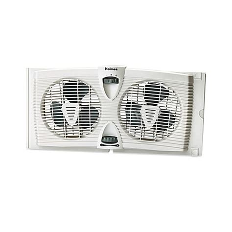 bed bath and beyond fans holmes 174 dual blade twin window fan with thermostat bed