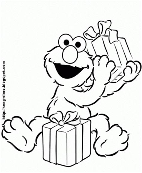 elmo coloring pages happy birthday elmo s song