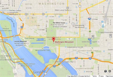 map of dc monuments washington monument on map of dc world easy guides