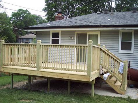 outdoor how to build a simple deck deck plans free deck