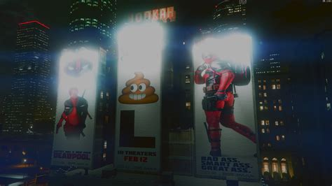 mod gta 5 deadpool deadpool downtown ads gta5 mods com