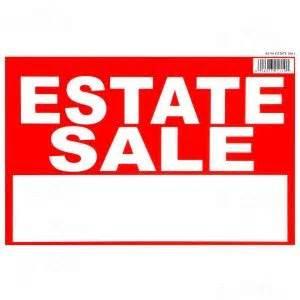 Estate Sales 8 X 12 Estate Sale Sign 12 Pieces