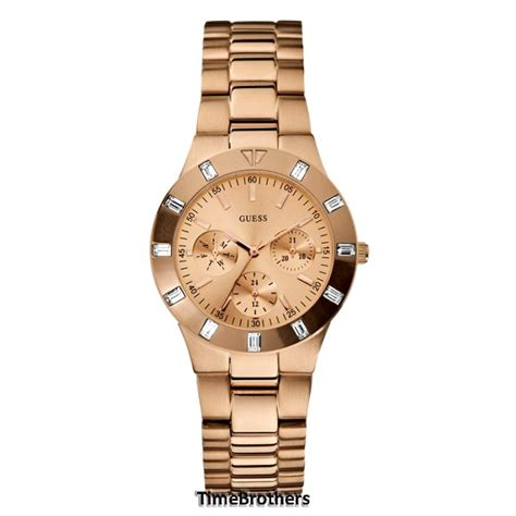 Guess Date Mini Rantai Gold new guess for multi function gold tone