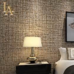 Modern Solid Color Flocking Textured Wallpaper Light Grey Beige Simple Bedroom Living room TV