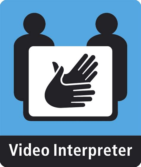 A Place Are They Deaf File A Interpreter Sign Used At Videophone Stations In Places Where Deaf Can