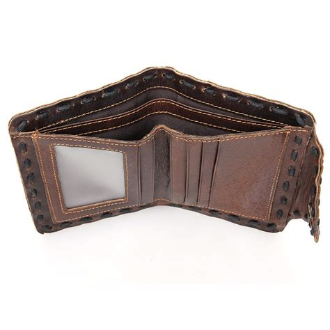 Handmade Leather Wallet - handmade leather wallet pocket purse